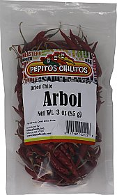 Chile De Arbol Whole 3oz bag