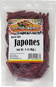 Chile Japones 3oz bag