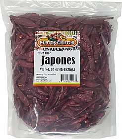 Chile Japones 16oz bag