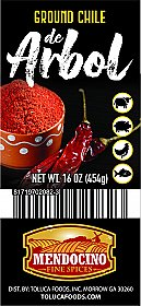 Ground Chile de Arbol 16 oz