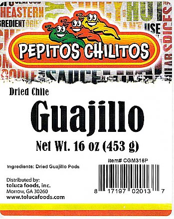 Chile Guajillo 16oz bag